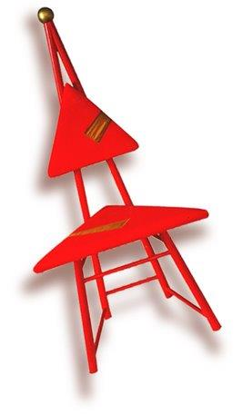 Red apple chair