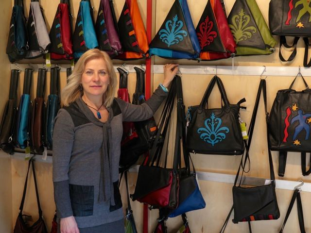 anita with bags