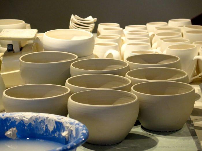 pottery in studio