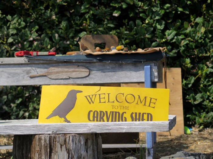 carving shed welcome