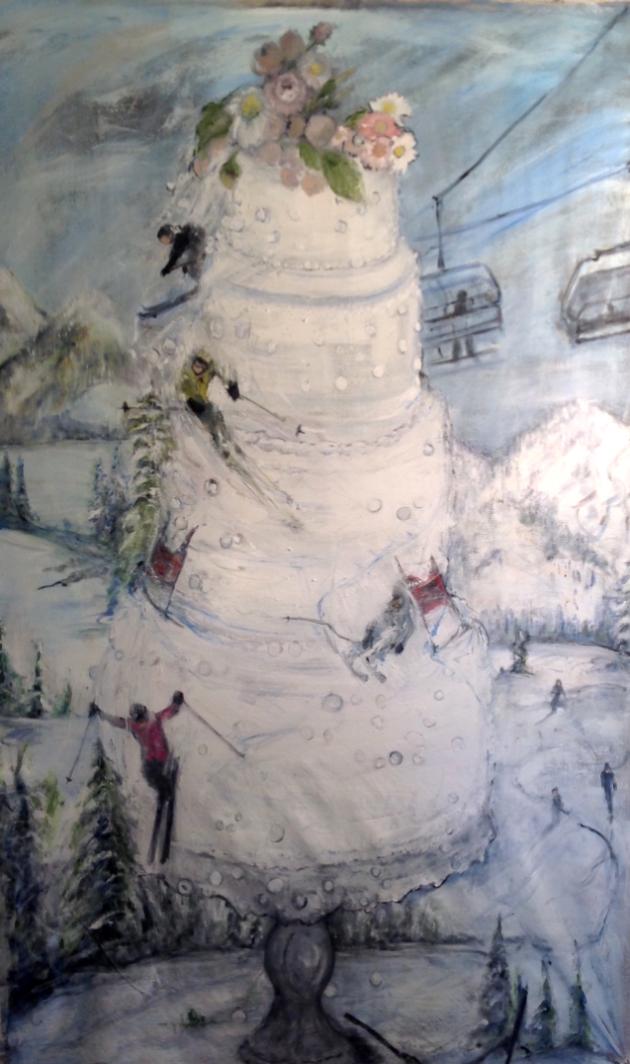 wedding cake ski